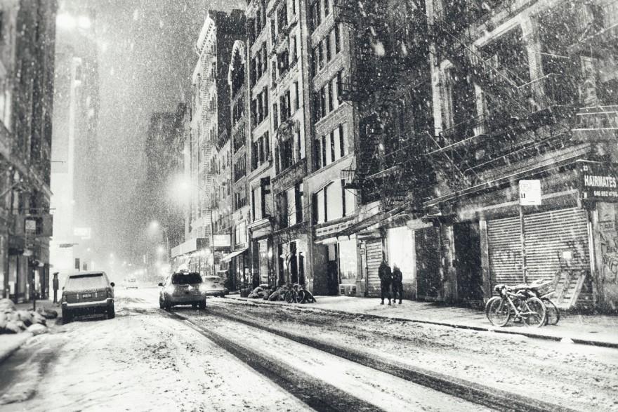 New York City - Snow - Winter Night
