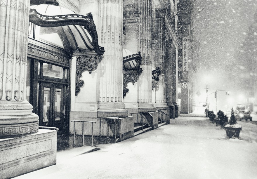 New York City Winter - Snow at Night