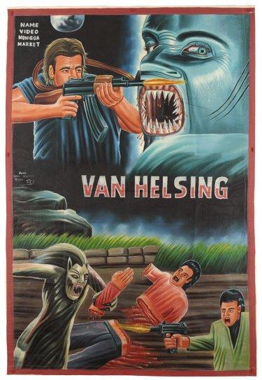 poster de cine de van helsing hecho en ganah