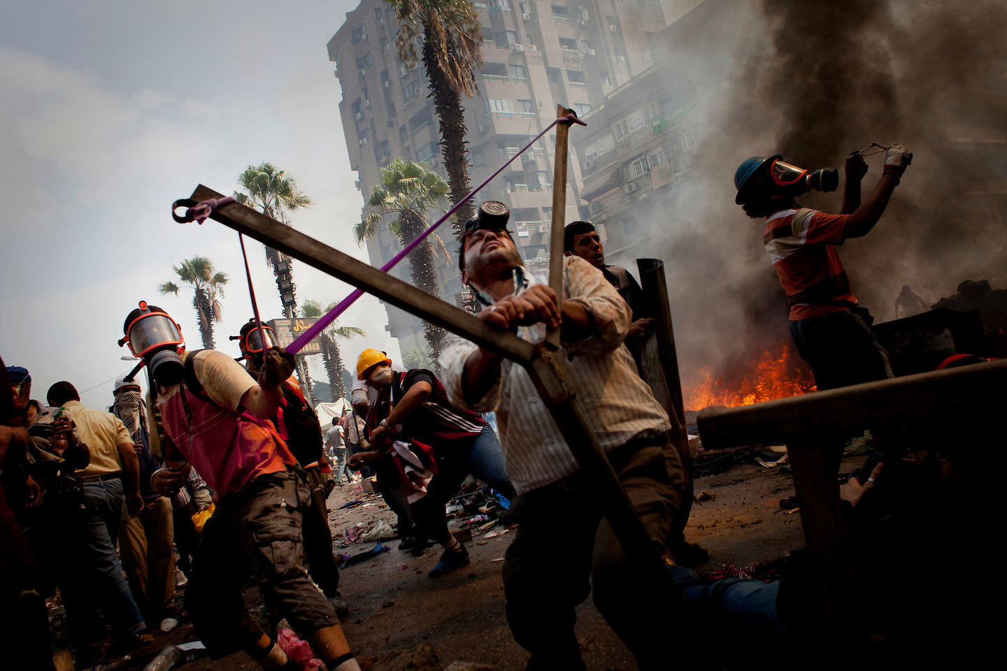 Eviction Pro Morsi Supporters camp in Raba Al Adaweeya In Cairo