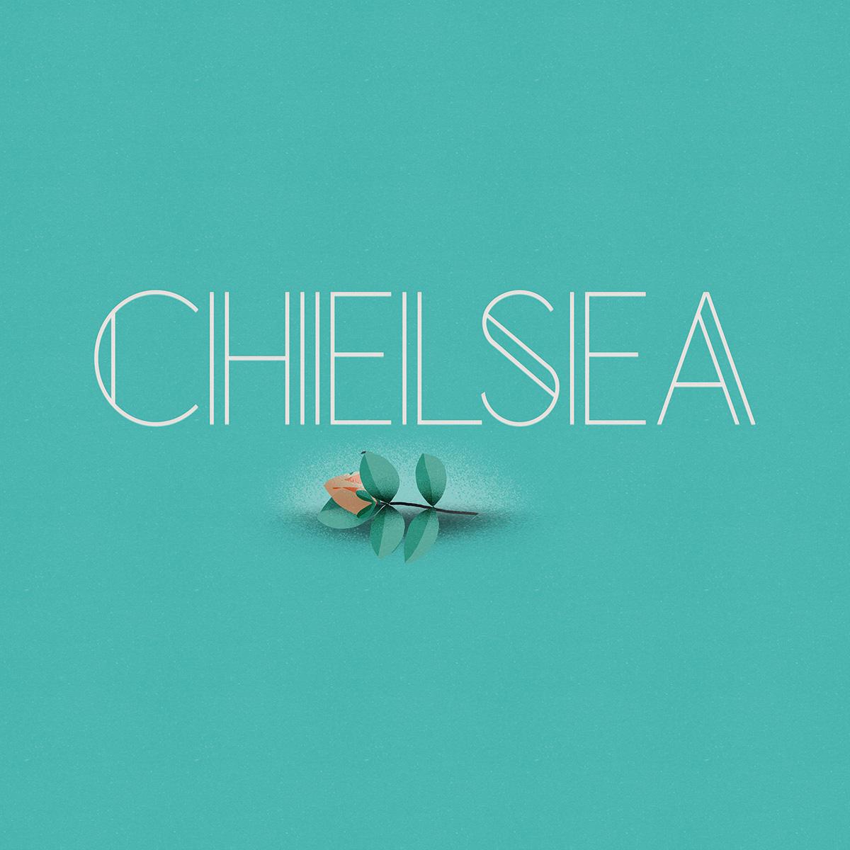 Chelsea fuente de texto gratis