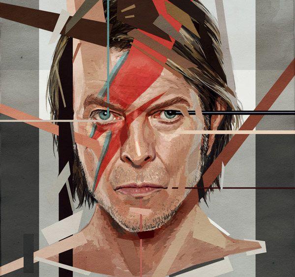 David Bowie dibujado por Astor Alexander
