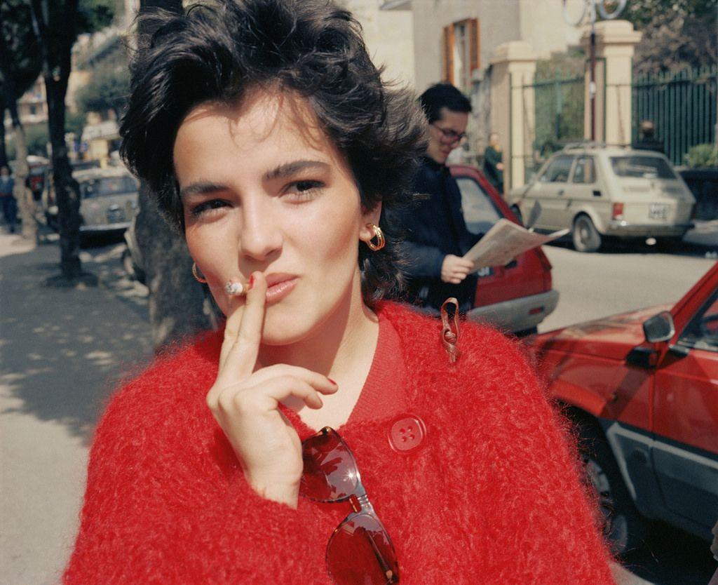 fotografía de mujer en los años de la dolce vita