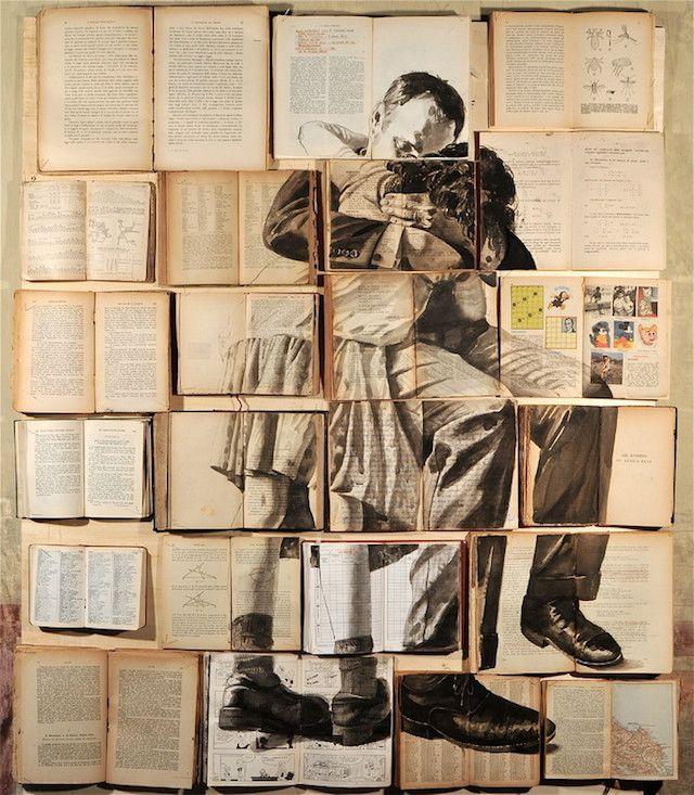 Pintura sobre libros
