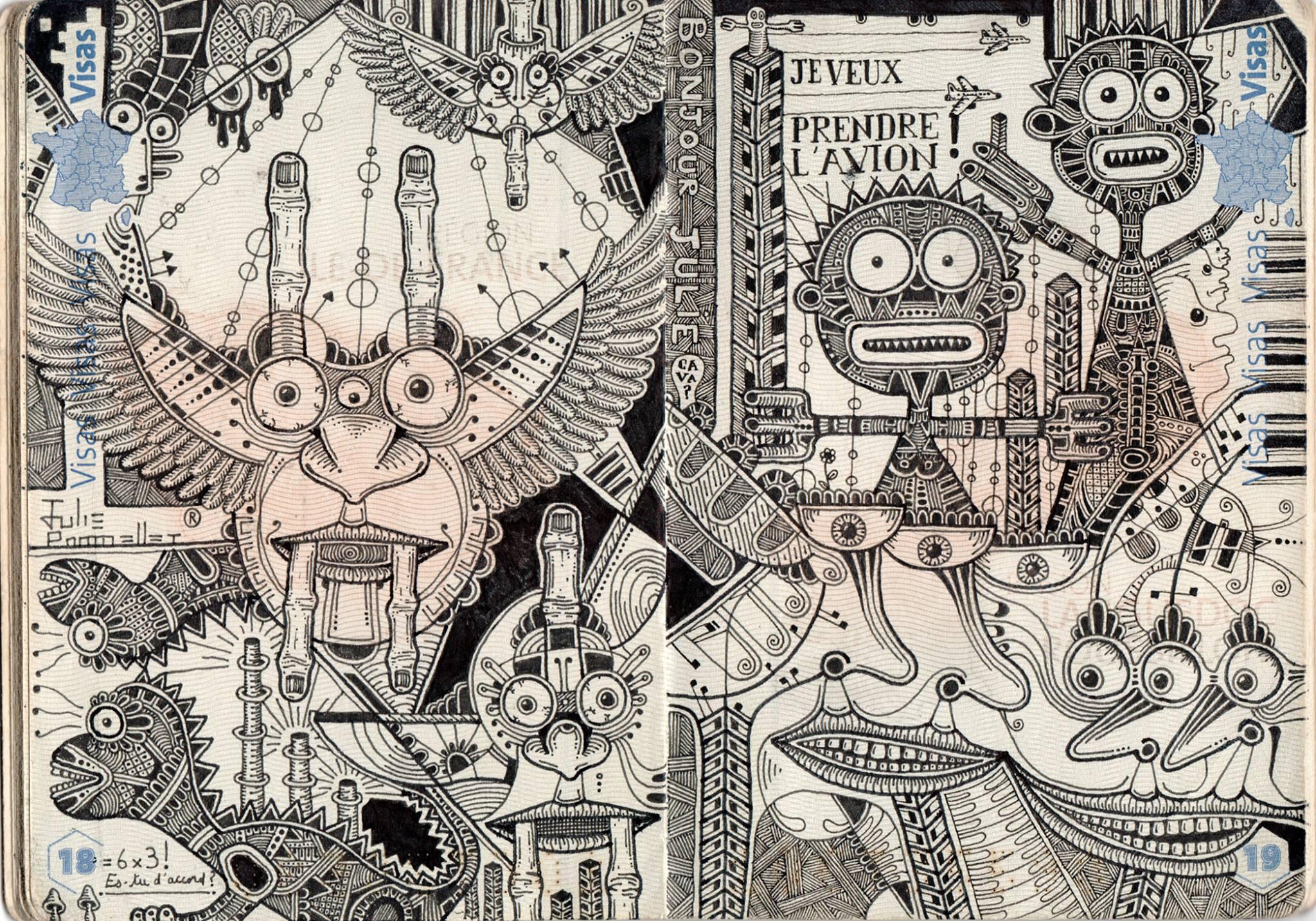 passport illustration 0