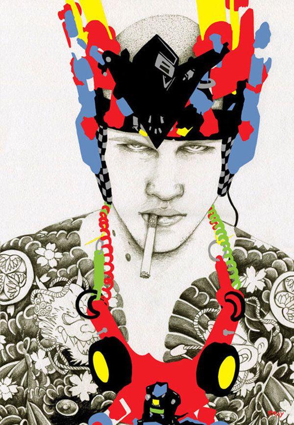 ilustración de moda masculina por Richard Gray