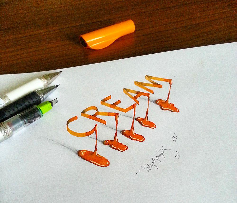 caligrafia 3d 1
