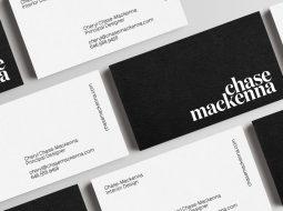 ejemplo de tarjeta de visita en negro