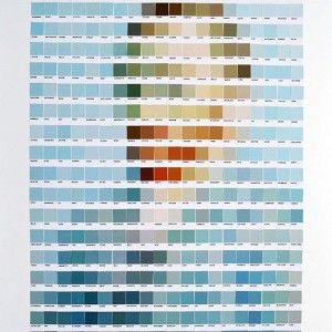 Vincent Van gogh recreado con colores pantone