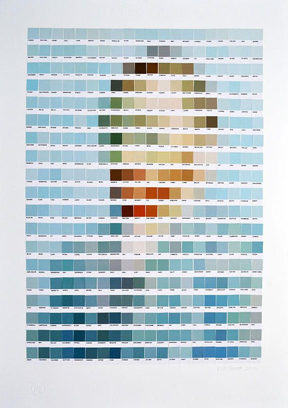 Vincent Van gogh recreado con colores pantone