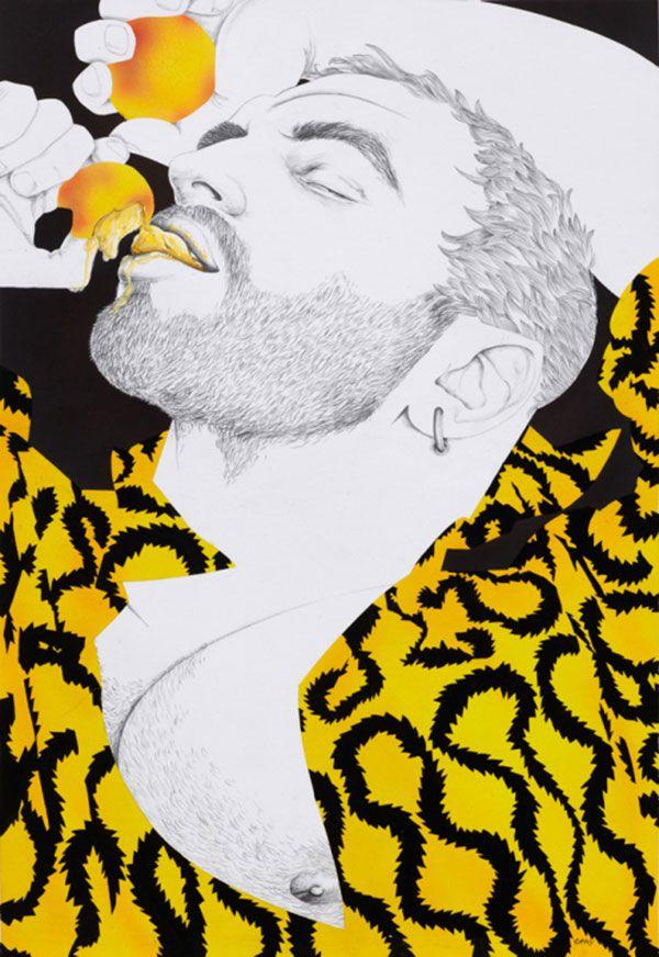 Dibujo de chico gay tumbado