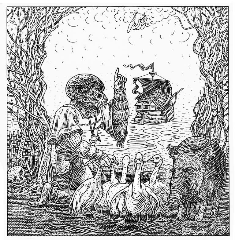 Istvan Orosz illusion illustration skull 11