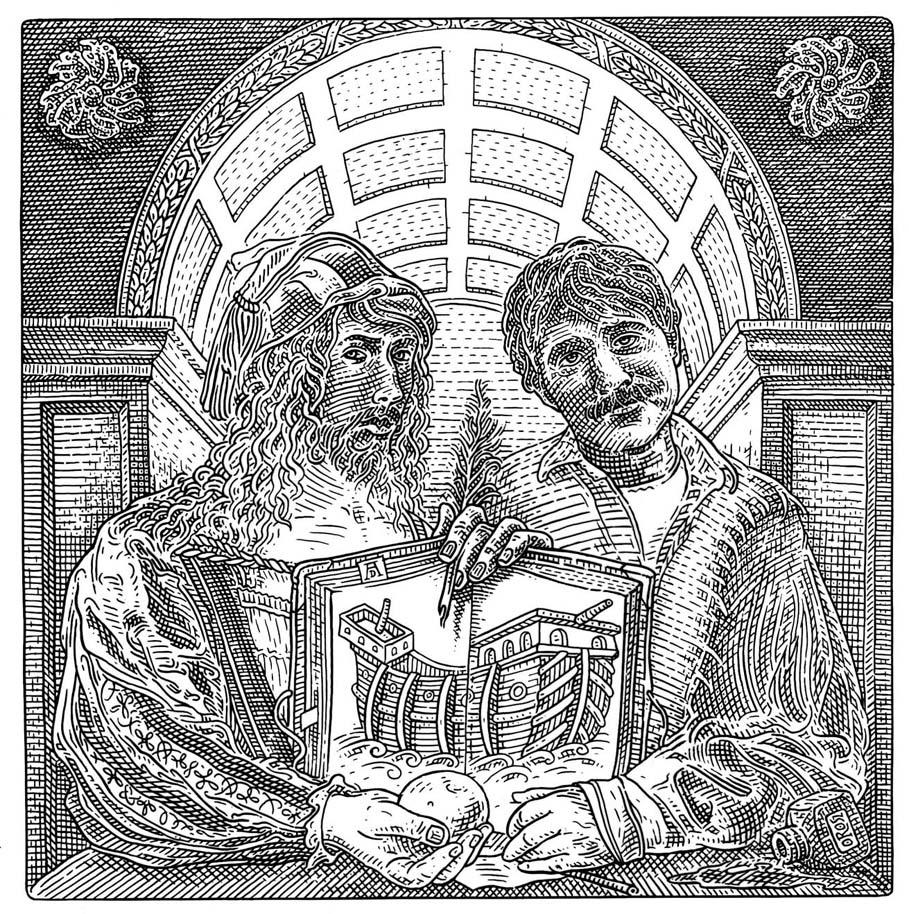 Istvan Orosz illusion illustration skull 5