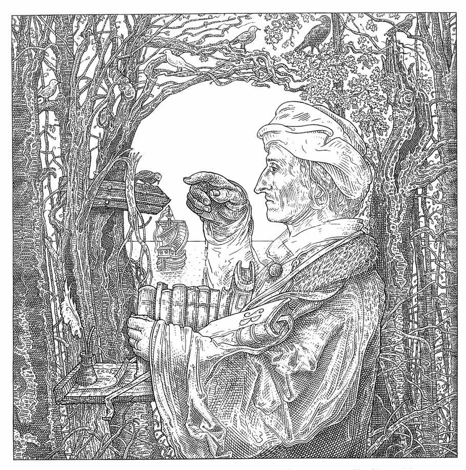Istvan Orosz illusion illustration skull 9