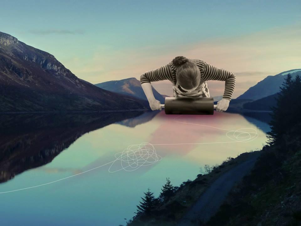 collage de fiona watson sobre el mundo