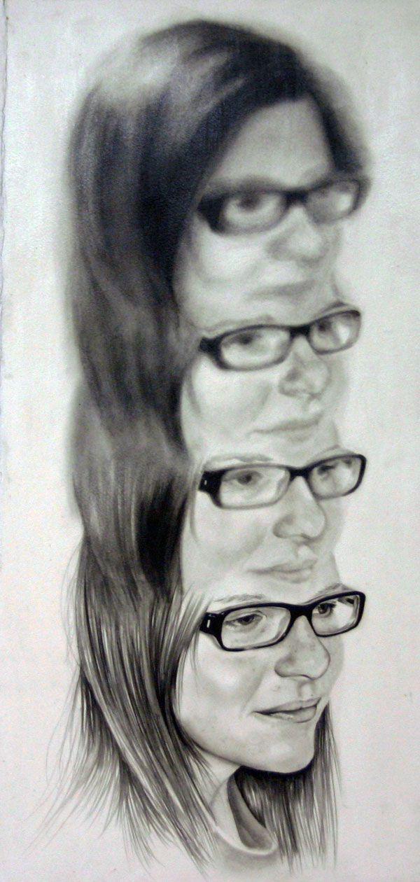 HannahScott1 pintura borrosa de mujer