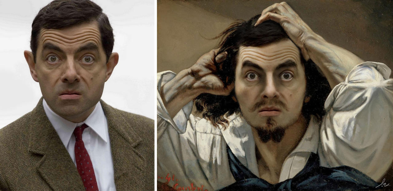 celebrities in classics paintings 10