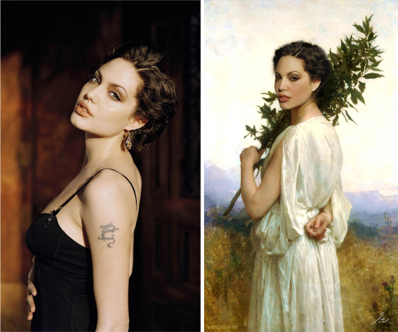 celebrities in classics paintings 11