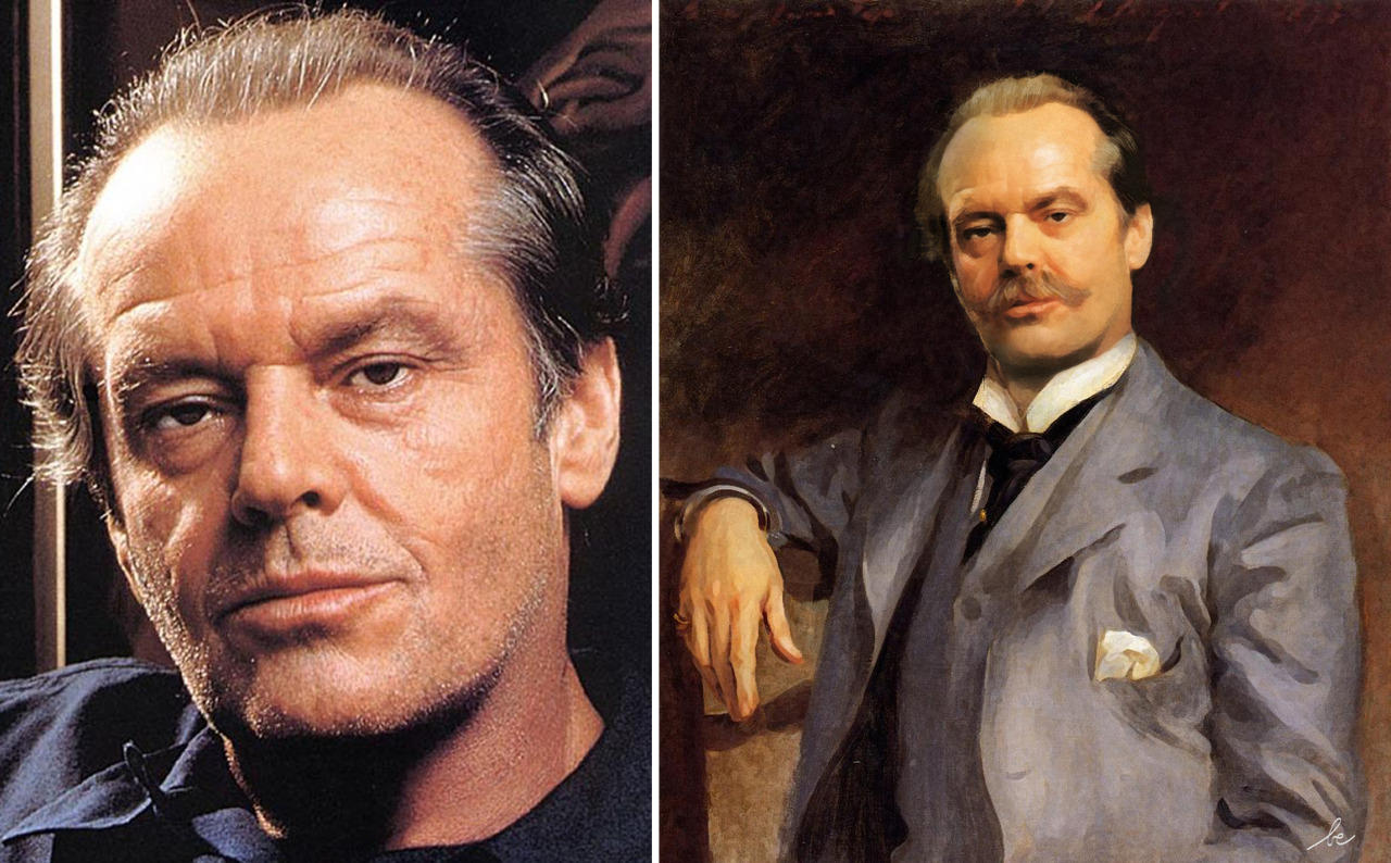 celebrities in classics paintings 4