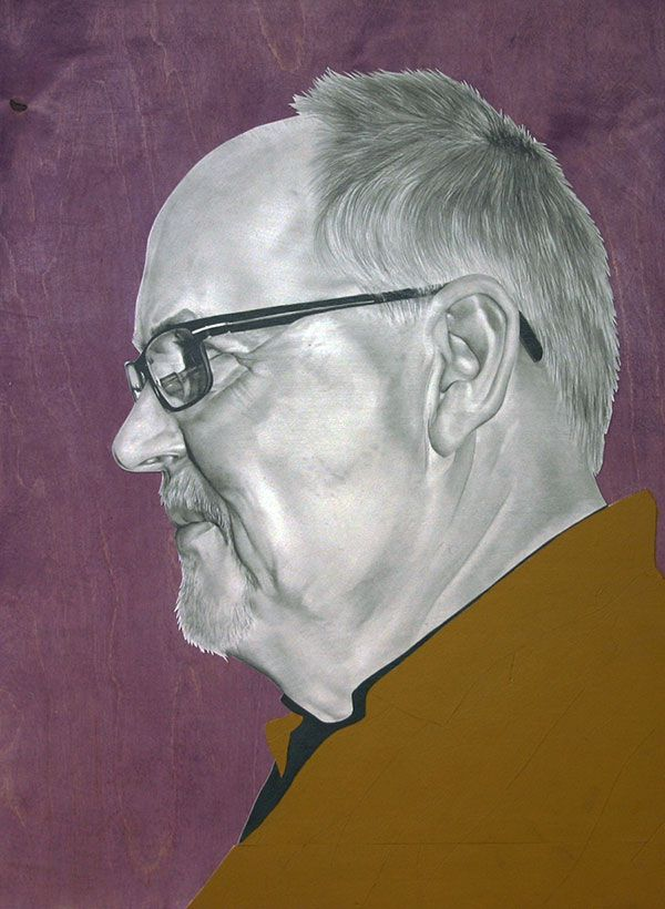 hannahscott cuadro de señor de lado artista grafica