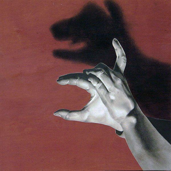 hannahscott cuadro de perro sombras con las manos
