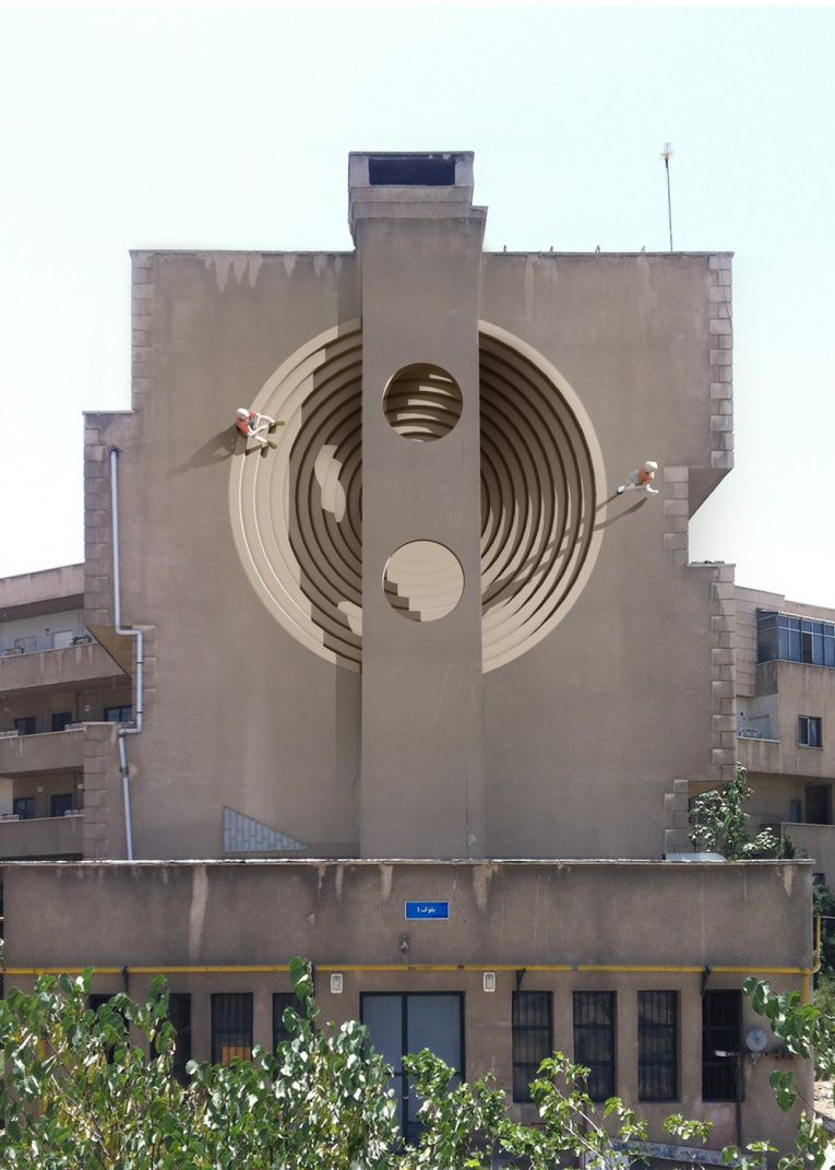 mehdi ghadyanloo street art optical illusion 1