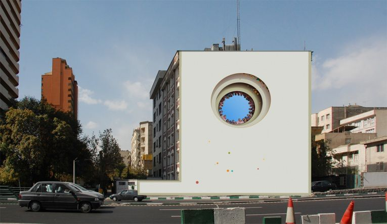mehdi ghadyanloo street art optical illusion 8
