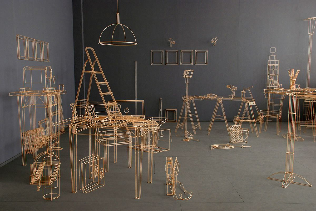 wireframe scupltures objects 11