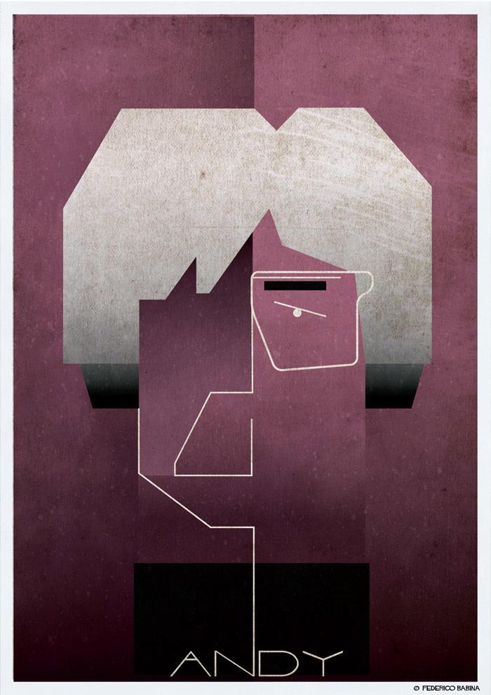 andy warhol cubist illustration