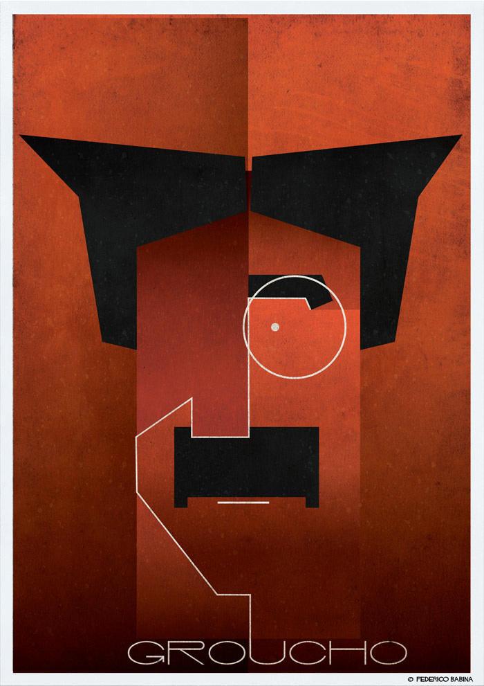 groucho cubist illustration