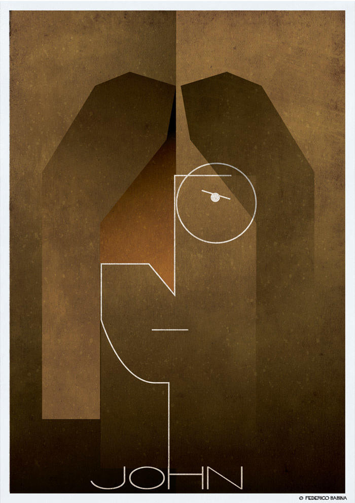 lennon cubist illustration