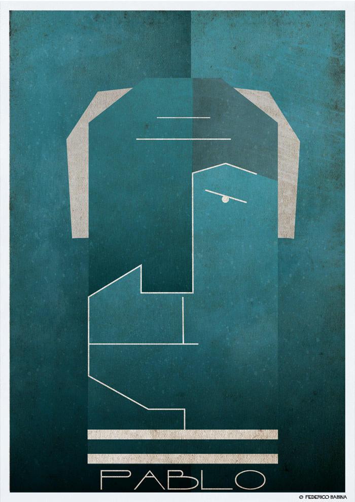pablo picasso cubist illustration