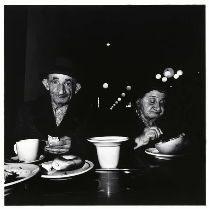 USA. New York City. 1973. The Cafeteria.