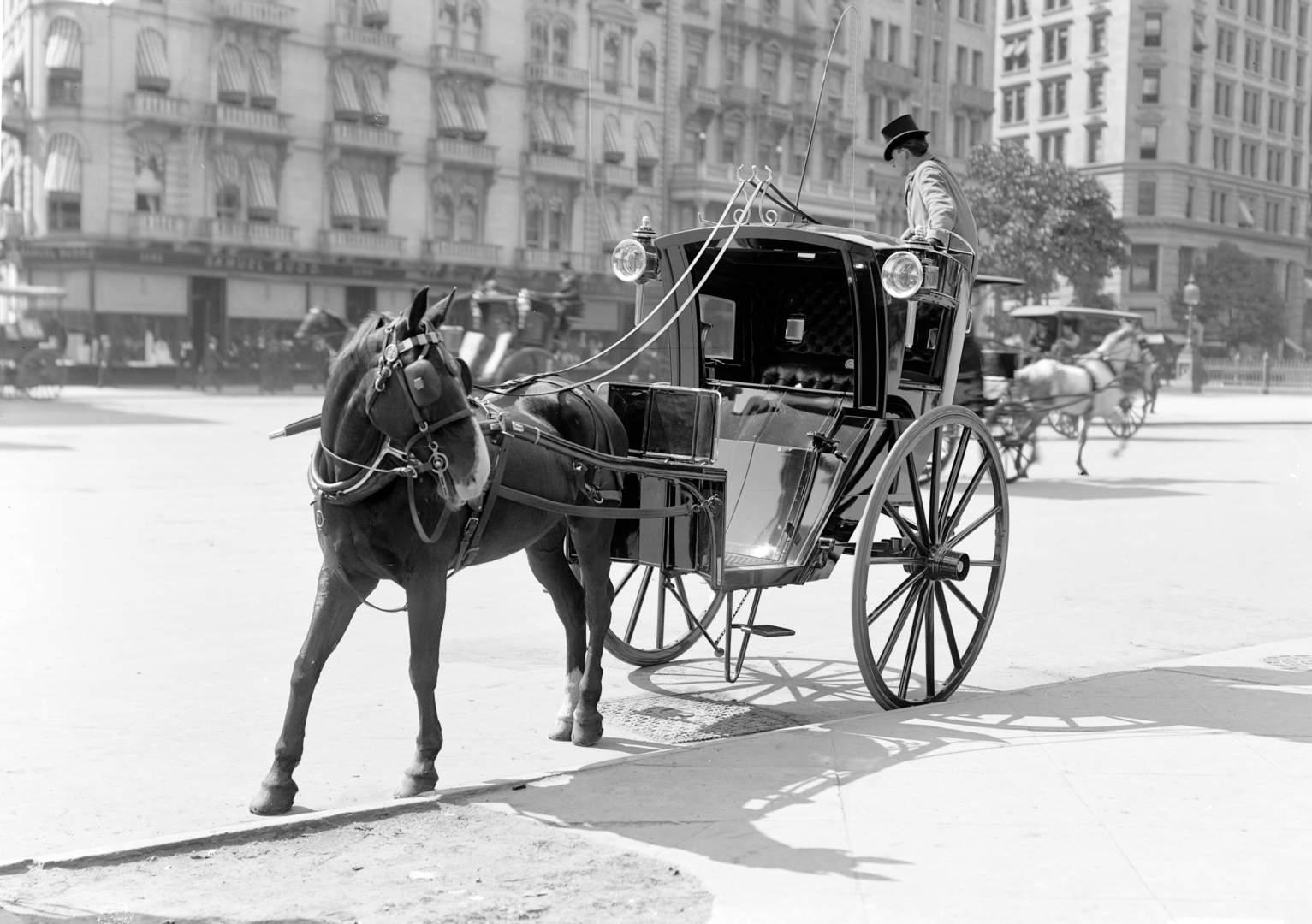Hansom Cab At Madison Square, NY