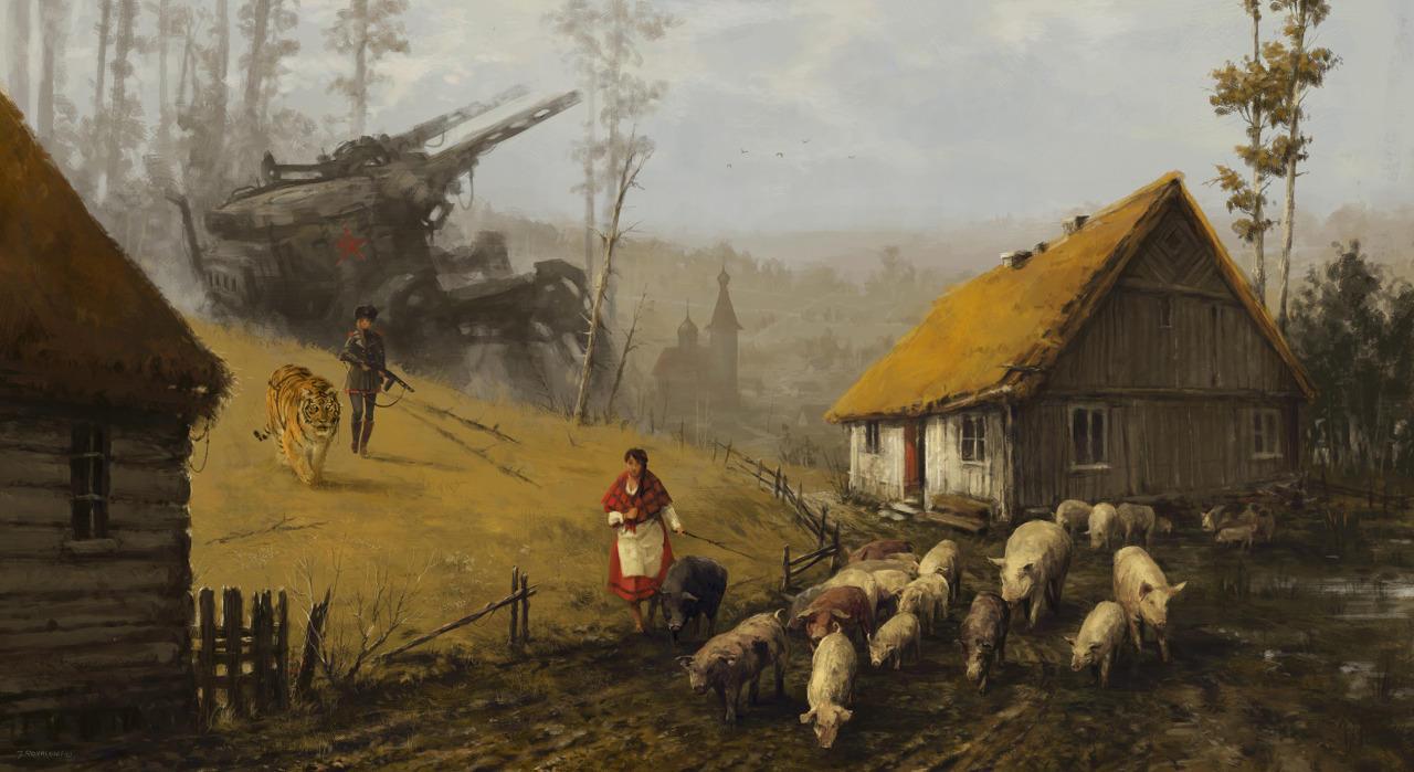 jakub-ralski-granja polaca con soldados y robots