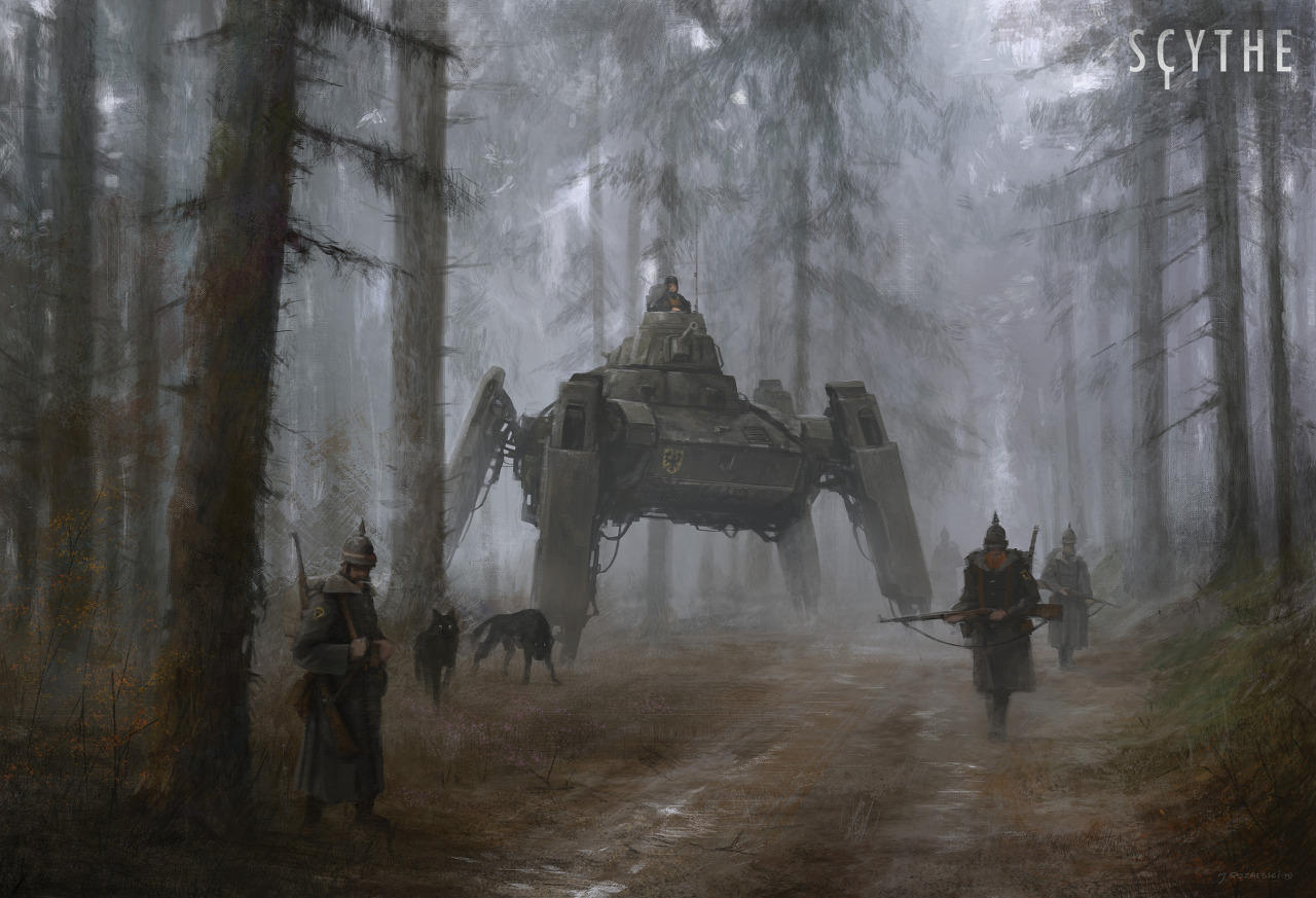 jakub-ralski-pintura de soldados polacos mezclado con robots
