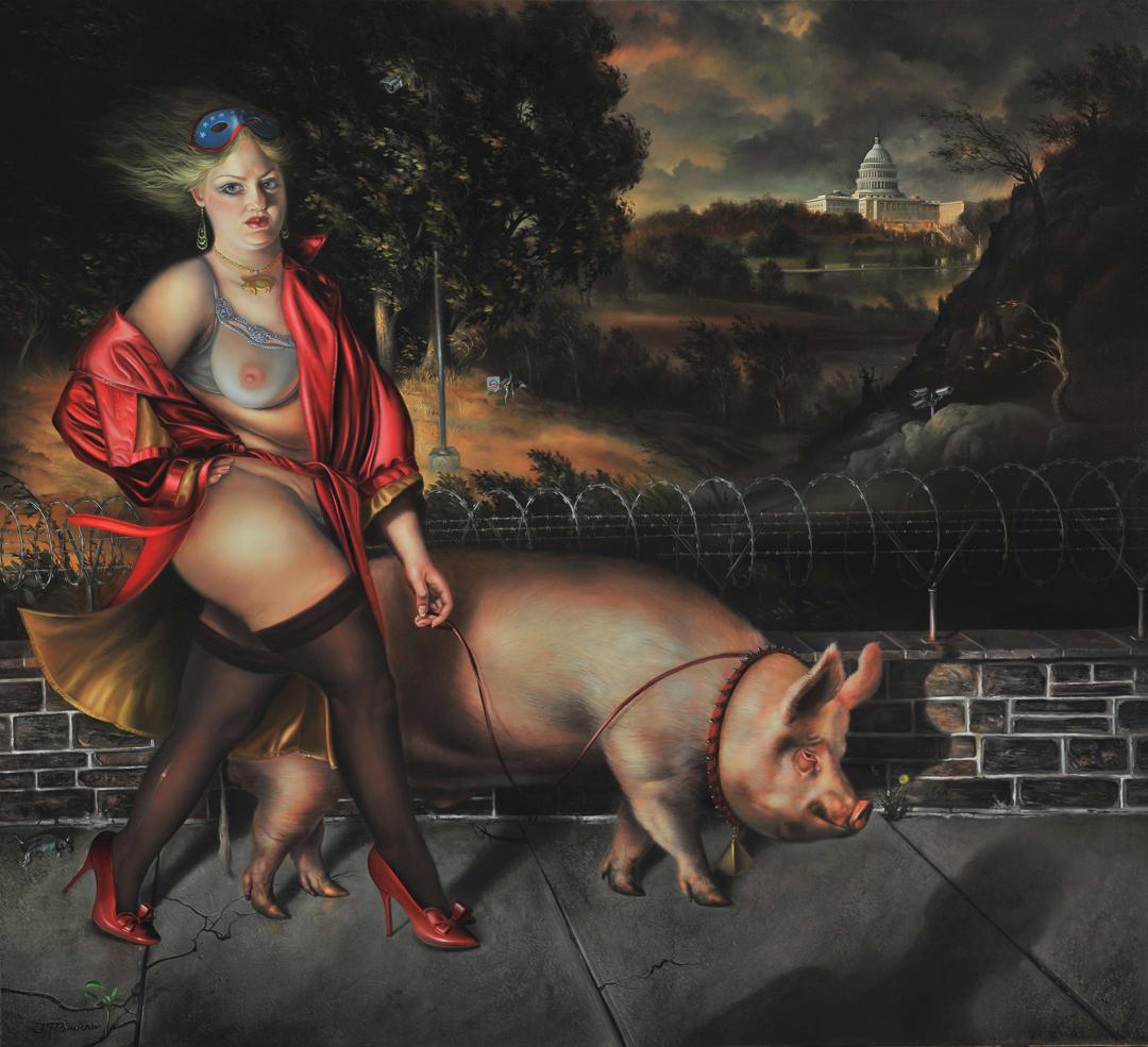 David Bowers painting oldskull 6