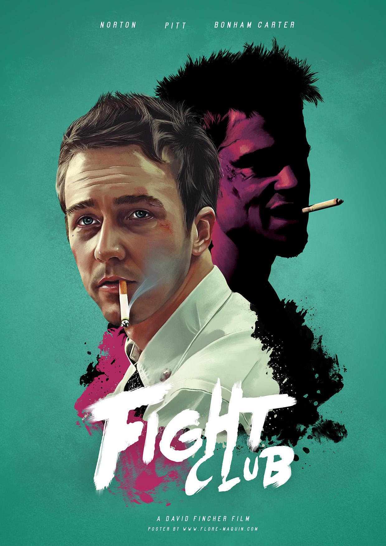 Poster cartel de la película el club d ela lucha