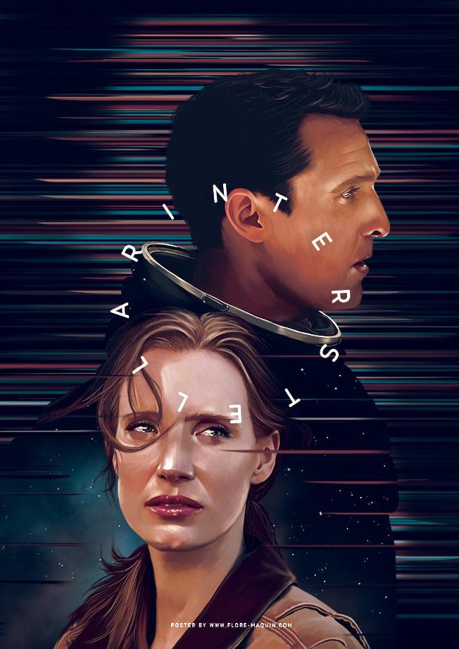 Poster ilustracion de la pelicula interstellar