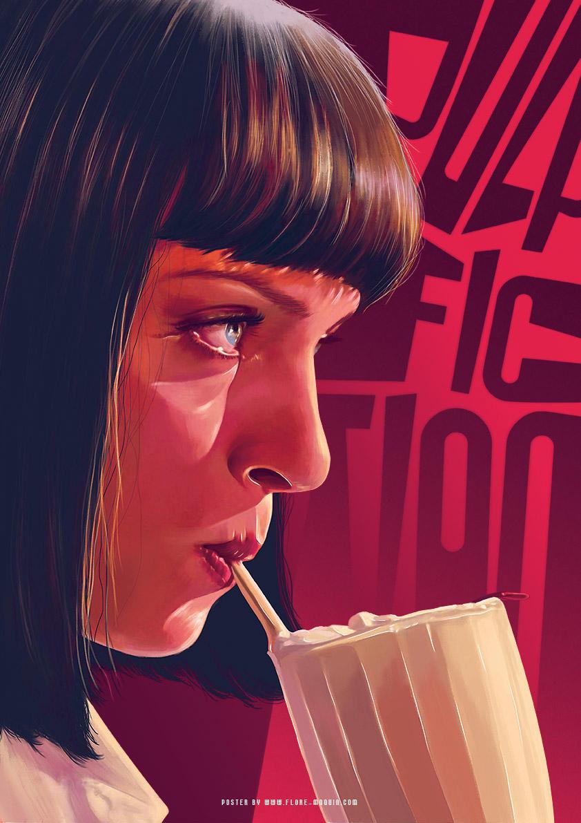 Cartel poster de la pelicula pulp fiction