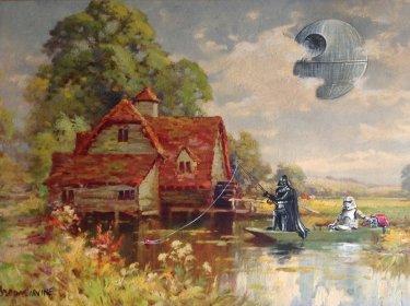 Cuadro con darth vader y un storm trooper