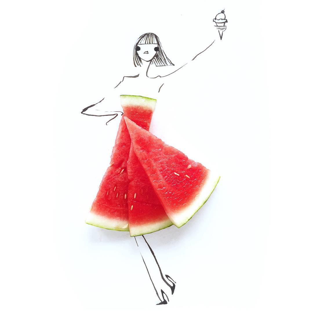 Gretchen Roehrs fashion food illustration 1
