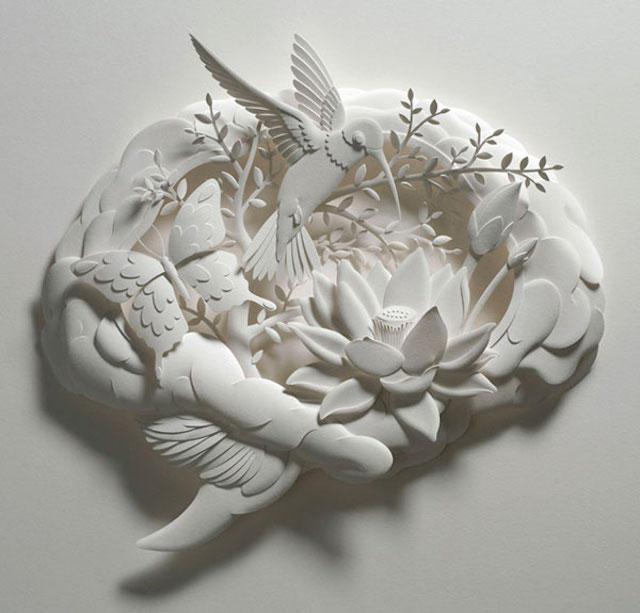 Jeff Nishinaka paper art sculpture oldskull 6