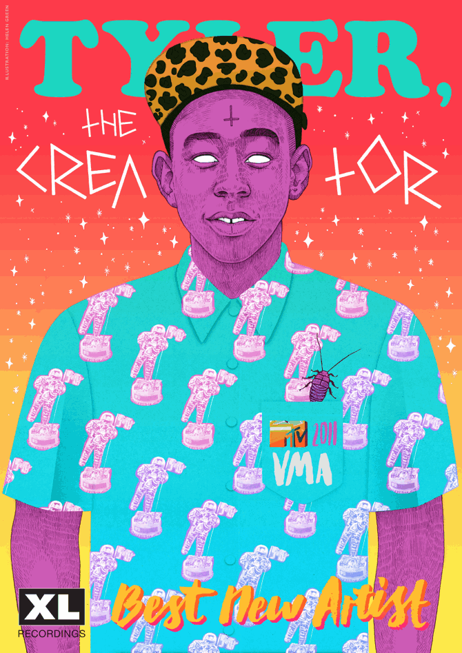 Tyler-the-Creator-illustration-hele green