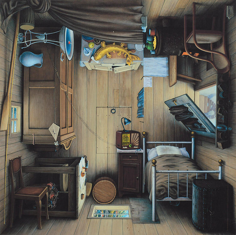 4siders painting oldskull habitación