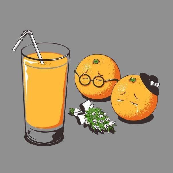 food and drink life illustration oldskull 1