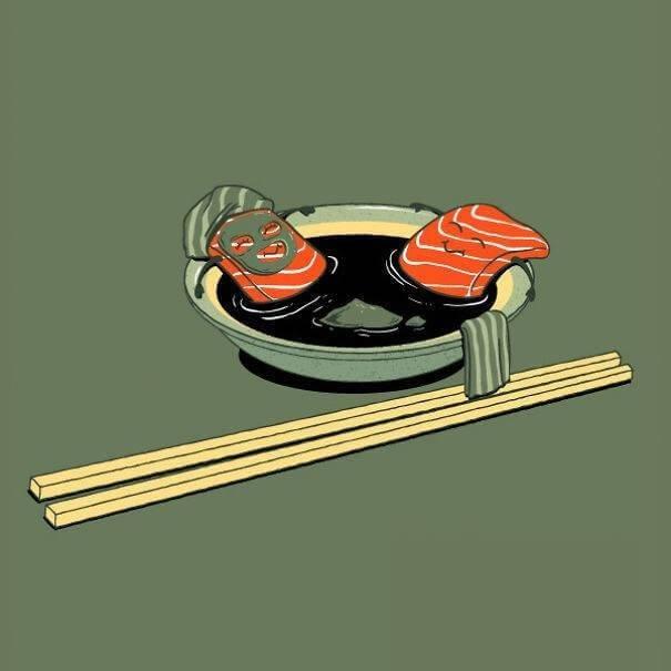 food and drink life illustration oldskull 11