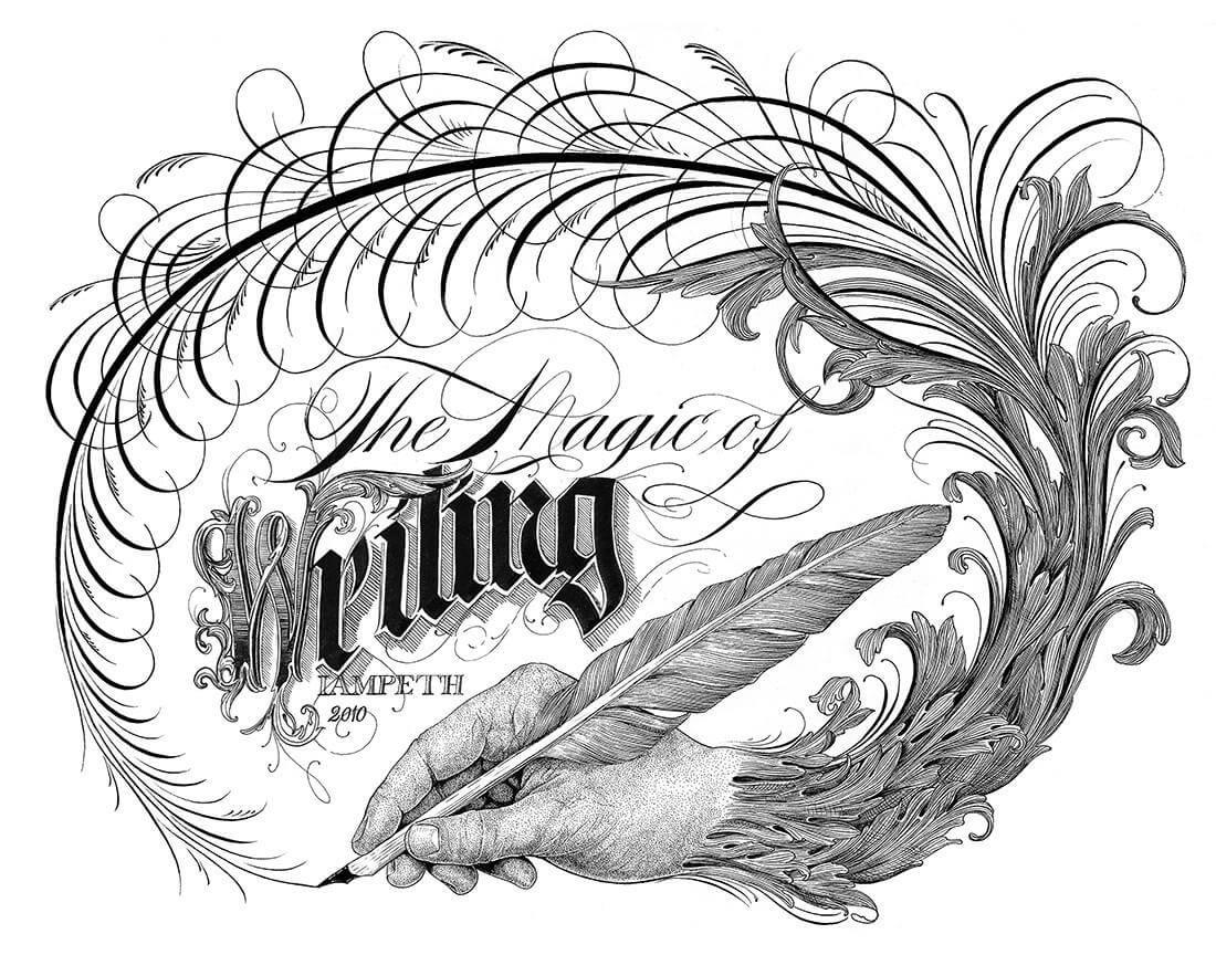La magia de la caligrafia creativa de jake weidmann