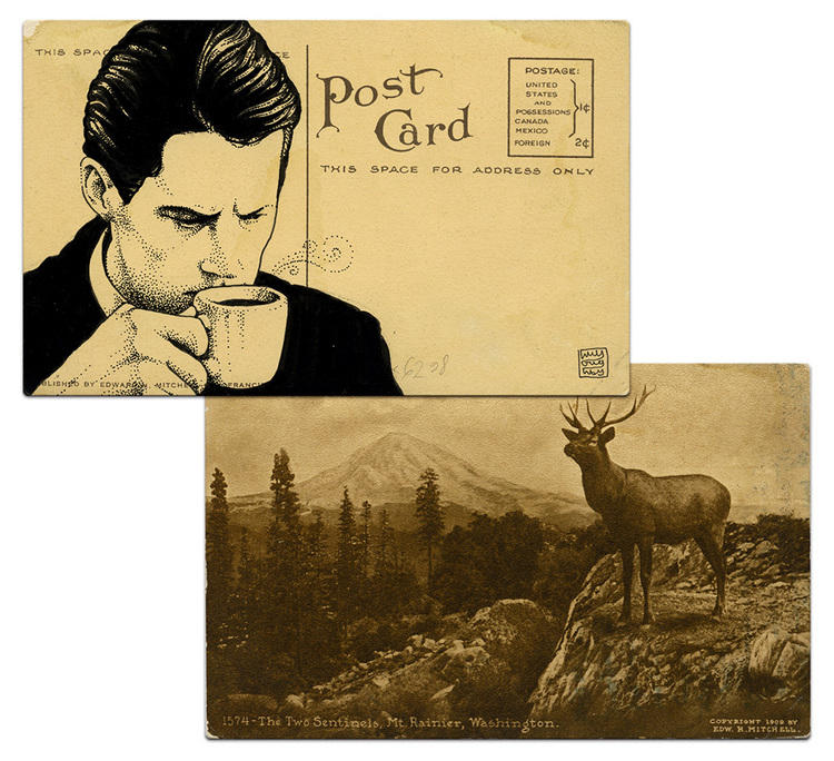 twin peaks post cards oldskull agente cooper