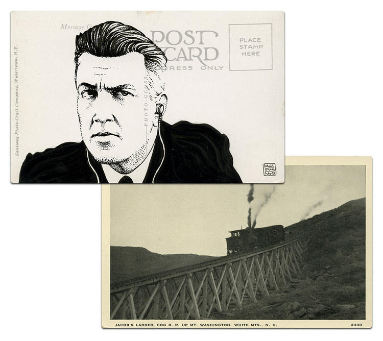 twin peaks post cards oldskull david lynch